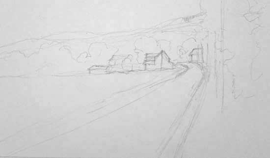 Rainey Dewey Art Rural sketch