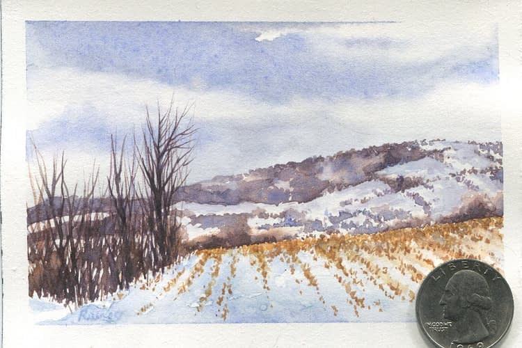 Watercolor Painting Cut Corn