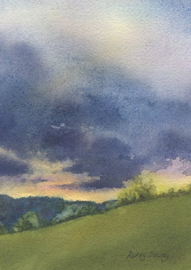 Watercolor on 140 lb. Cold Press