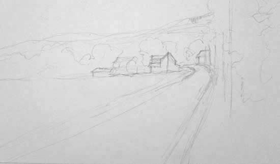 Rainey Dewey Art Rural sketch