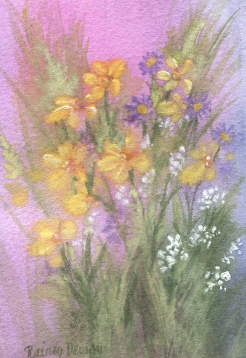 """Watercolor, Image Size 3.25""""x 4.5"""""""